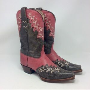 Tony Lama Western Boots Rose Manchester Distressed